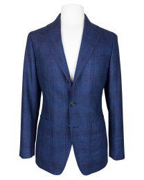 Wool plaid blue jacket