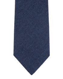 Cashmere herringbone steel blue