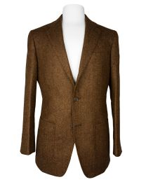 Tweed dark brown jacket