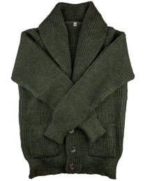 Shawl cardigan green