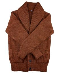 Shawl cardigan brown