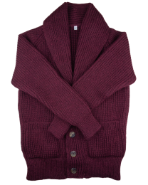 Shawl cardigan burgundy
