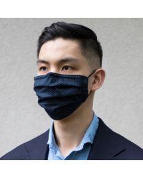 Face mask navy pindot