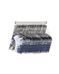 Pocket square rack, 30x The Great Wave pocket squares