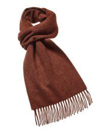 Rust merino scarf