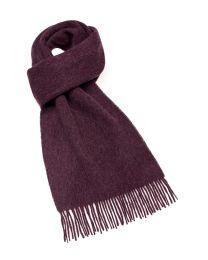 Burgundy merino scarf