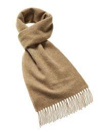Camel merino scarf
