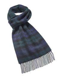 Black Watch tartan merino scarf