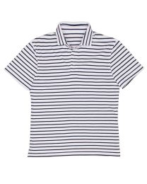 Polo stripe white navy
