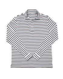 Rugby stripe white navy