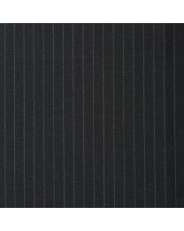 Charcoal pinstripe white 7mm