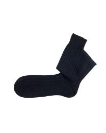 Linen navy socks