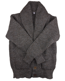 Shawl cardigan grey